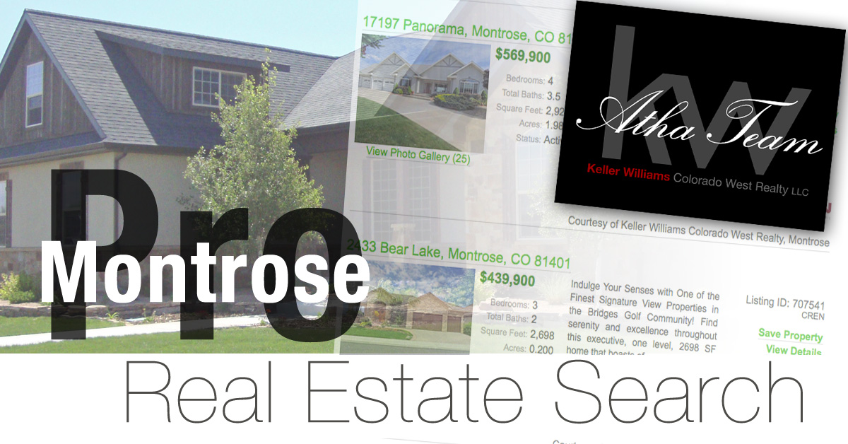 Search like a local ouray montrose co real estate listing for Local house builders