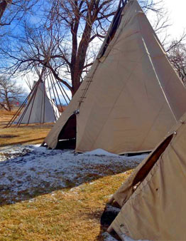 Ute teepee Montrose Colorado Ouray