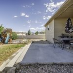 1724 Election Way Montrose Colorado Back Yard Patio with Playset - Atha Team House for Sale