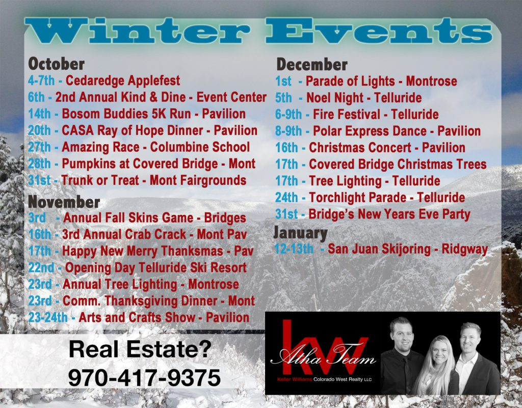 Winter Events Montrose Colorado 2018