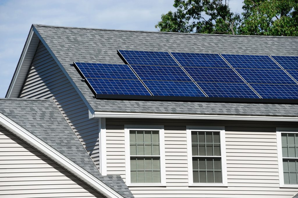 Solar panels installed on the house roof - Atha Team Real Estate