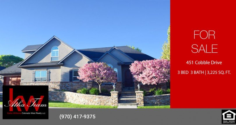 Cobble Creek 3 Bedroom Home with Golf Course Views - 451 Cobble Dr. Montrose, CO 81403 - Atha Team Residential Real Estate