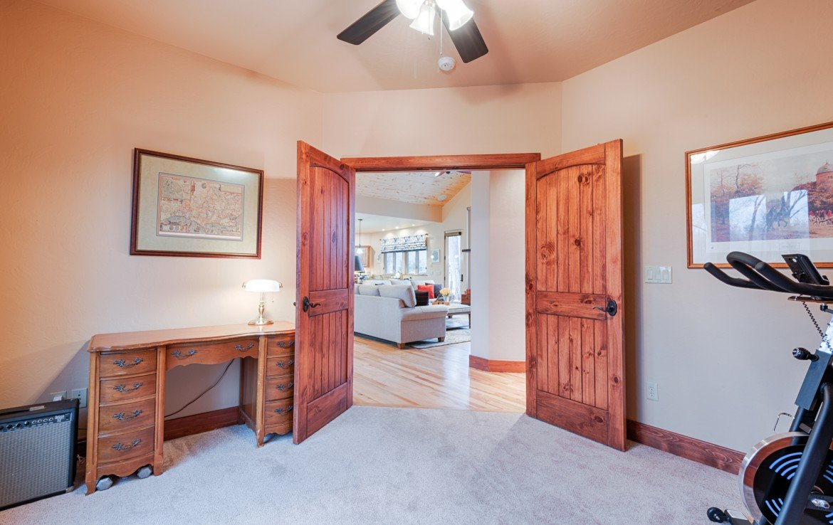 Home Office View to Living Room - For Sale 68252 Tyler Ln Montrose Colorado 81403