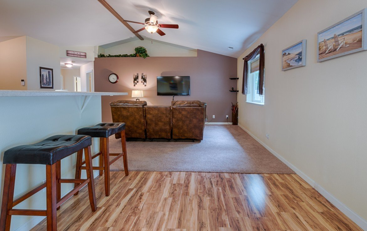 Dining and Living room with Vaulted Ceilings - 1023 Deer Trail Montrose Real Estate - Atha Team