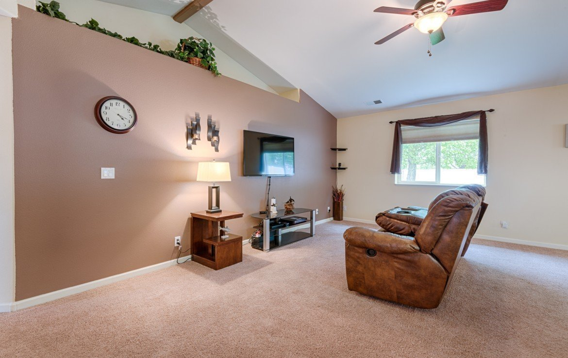 Living room with Ceiling Fan - 1023 Deer Trail Montrose Real Estate - Atha Team