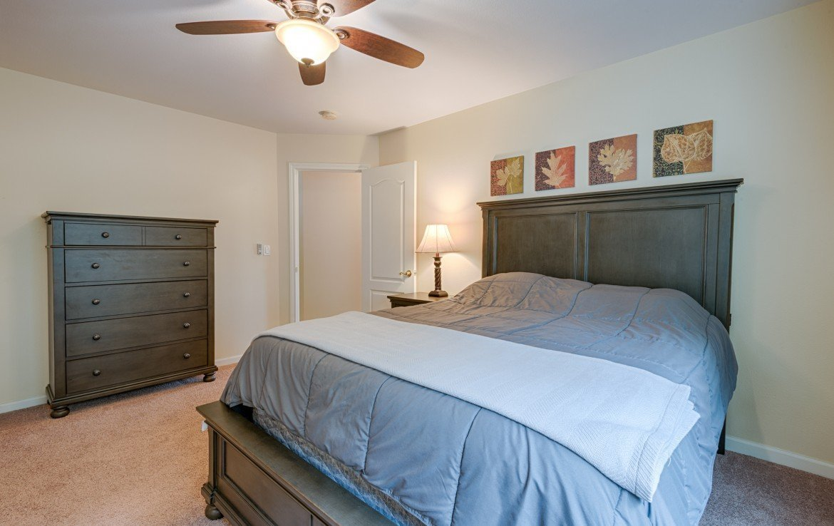 Bedroom with New Carpet and Ceiling Fan - 1023 Deer Trail Montrose Real Estate - Atha Team