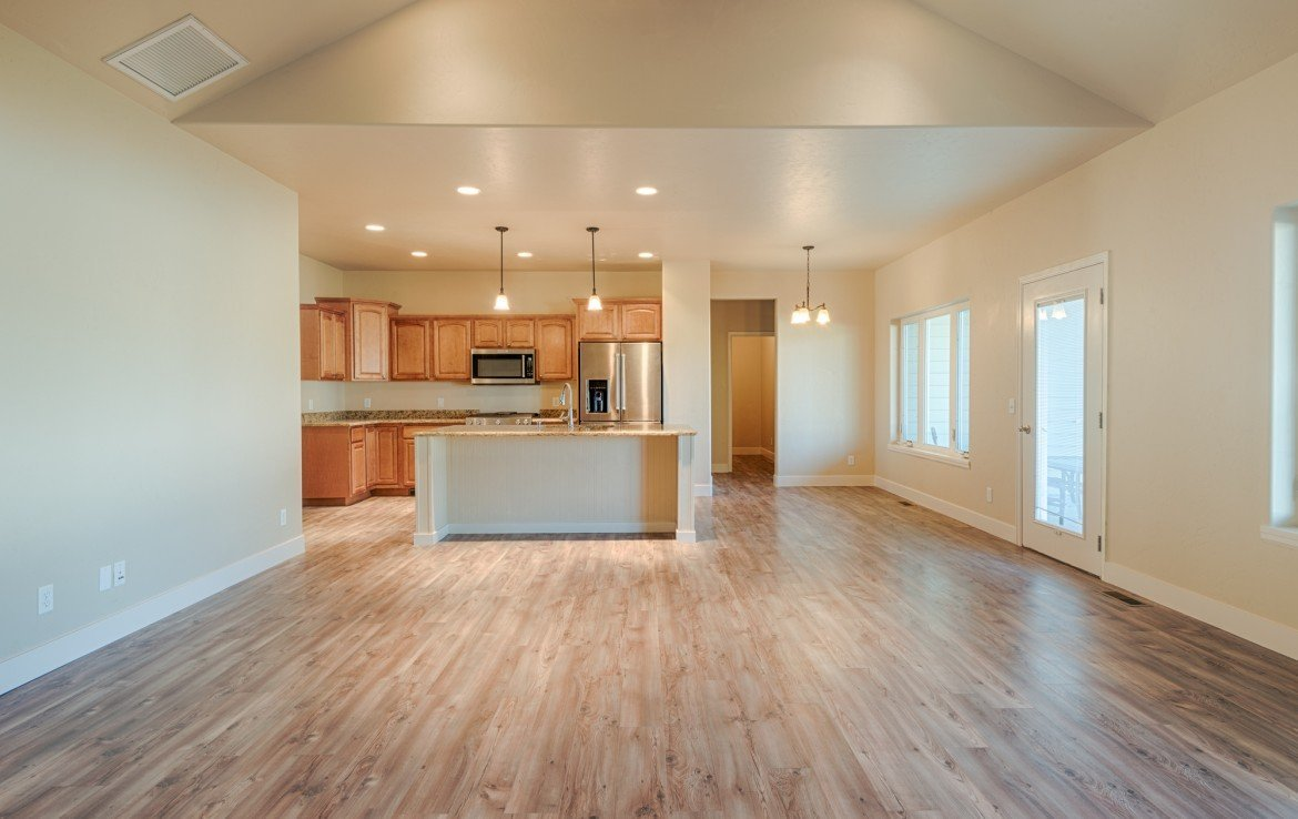 Open Concept Kitchen, Living and Dining - 1828 Senate St Montrose, CO 81401 - Atha Team Real Estate
