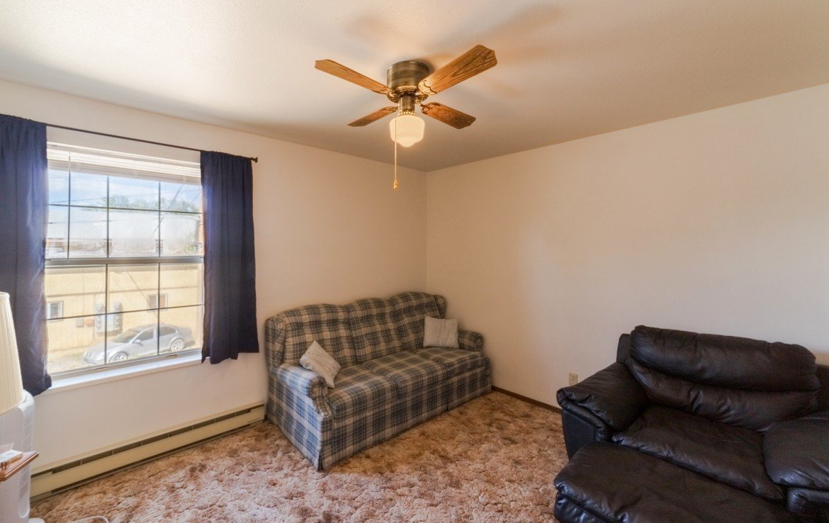 Bedroom with Ceiling Fan - 535 S 11th St, Montrose, CO 81401 - For Sale – Atha Team Real Estate