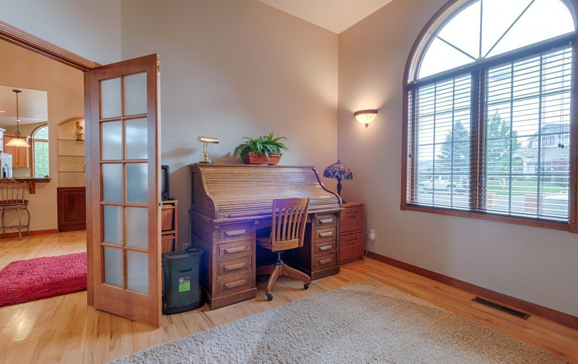 Office/Den with French Doors - 555 Collins Way Montrose, CO. 81403 - Atha Team at Keller Williams
