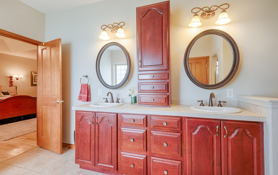 Master Bathroom with Dual Sinks - 555 Collins Way Montrose, CO. 81403 - Atha Team at Keller Williams