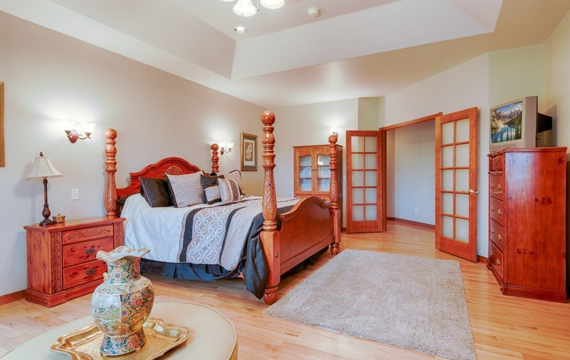Master Bedroom with French Doors - 555 Collins Way Montrose, CO. 81403 - Atha Team at Keller Williams