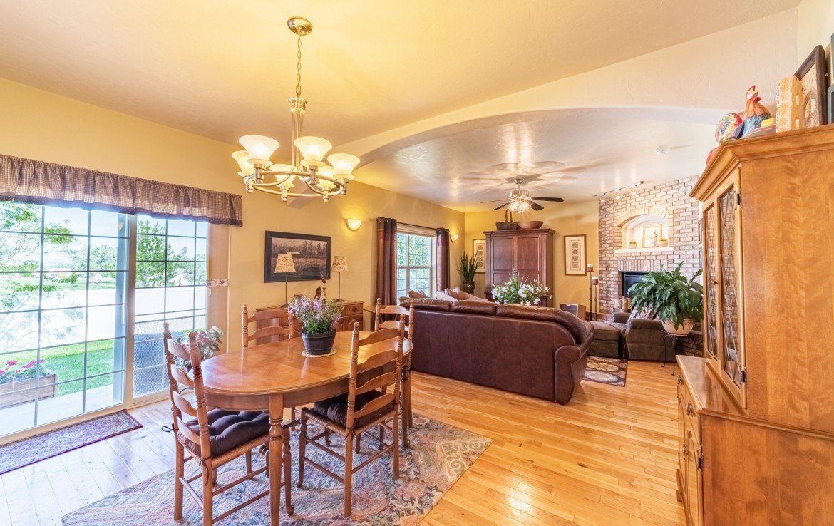 Kitchen and Living Open Concept - 3208 Silver Fox Dr Montrose CO 81401 - Atha Team