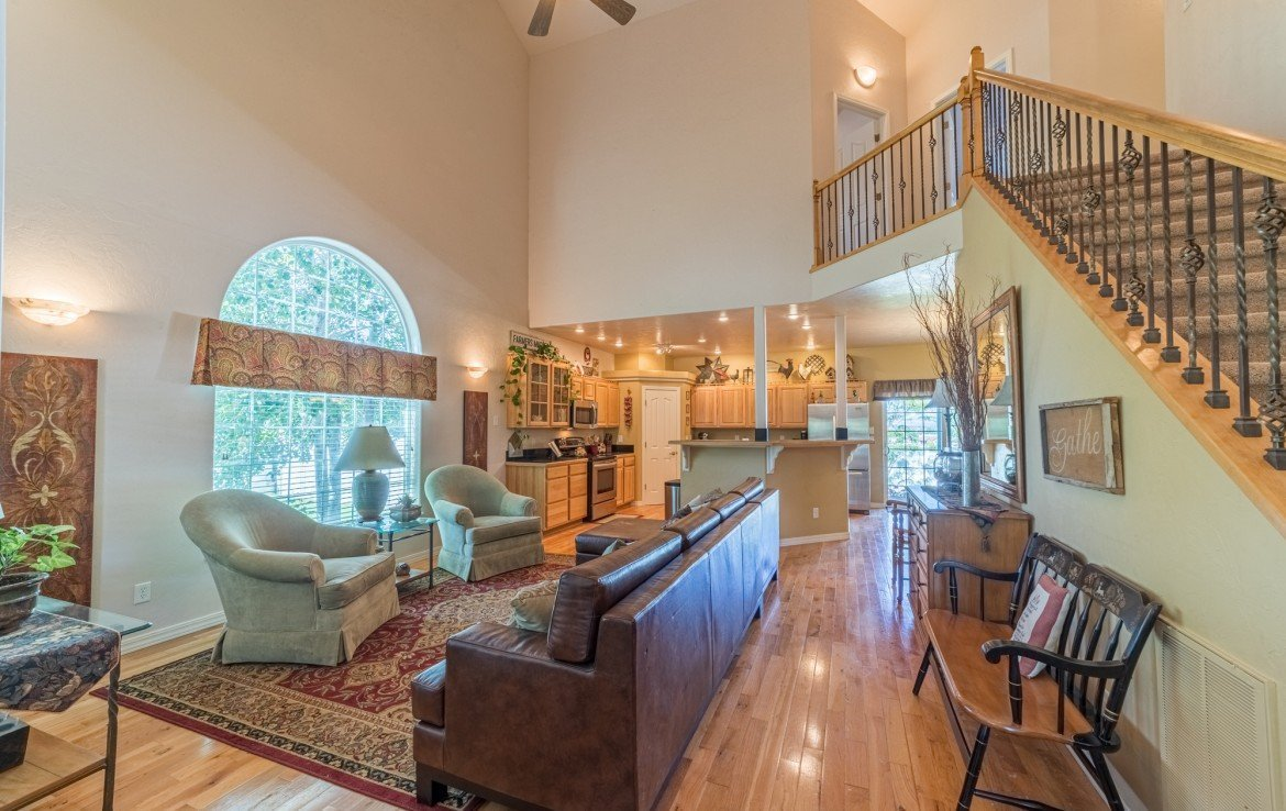 Formal Living Room with Cathedral Ceiling - 3208 Silver Fox Dr Montrose CO 81401 - Atha Team at Keller Williams