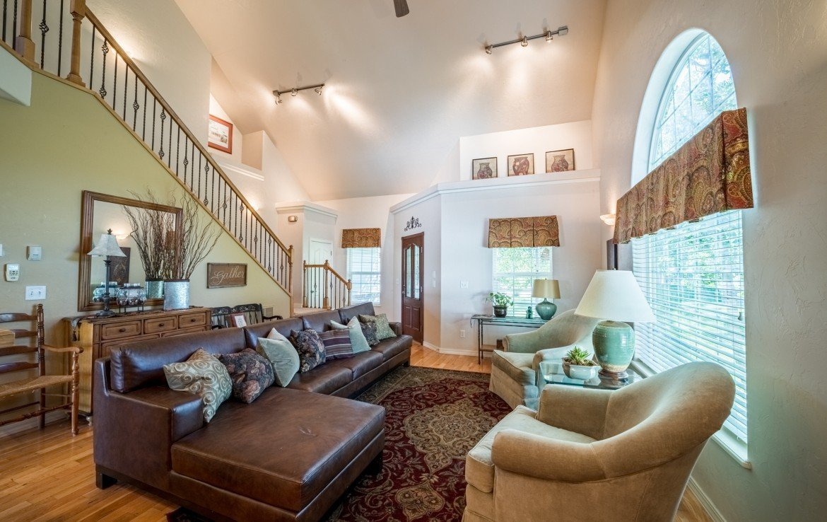 Formal Living Room with Ceiling Fan - 3208 Silver Fox Dr Montrose CO 81401 - Atha Team at Keller Williams