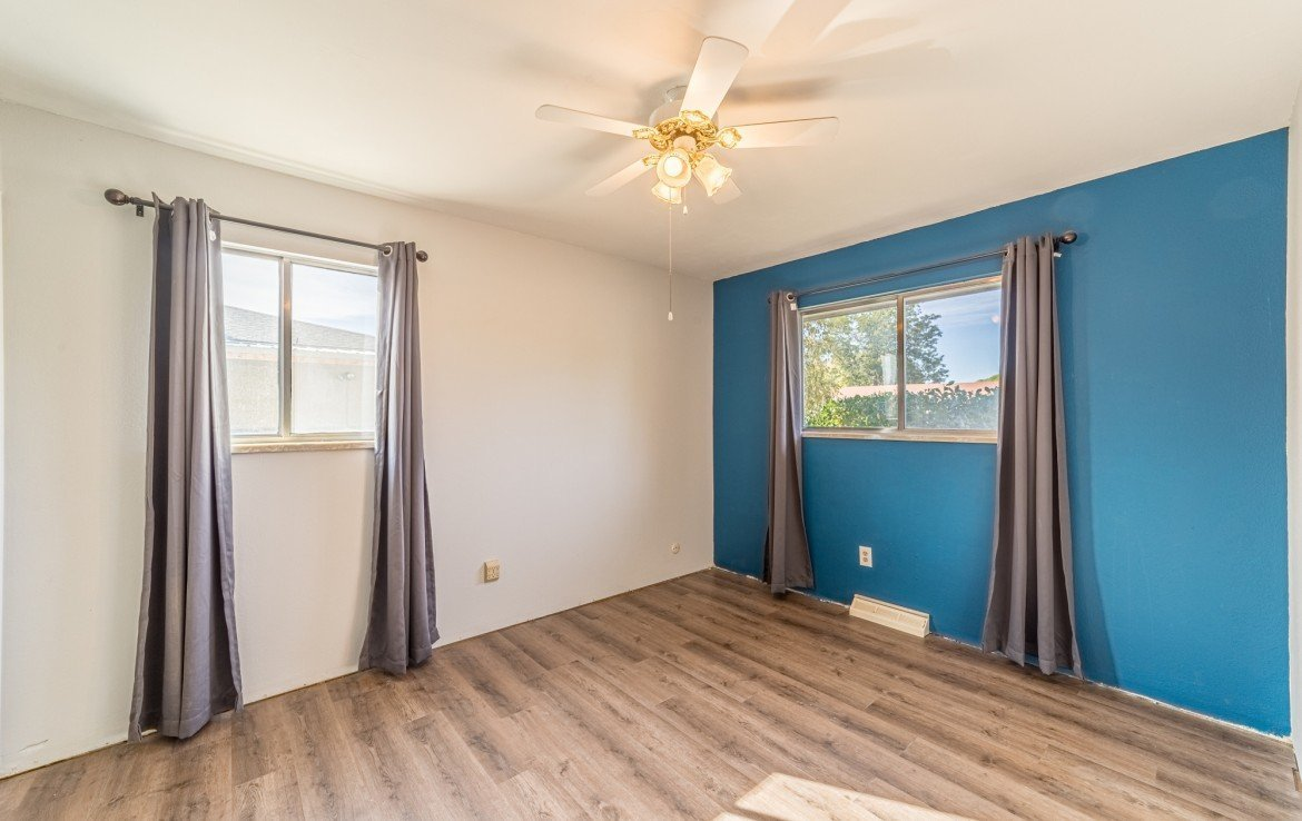 Bedroom with Ceiling Fan - 1717 Dover Rd Montrose, CO 81401 - Atha Team Real Estate for Sale