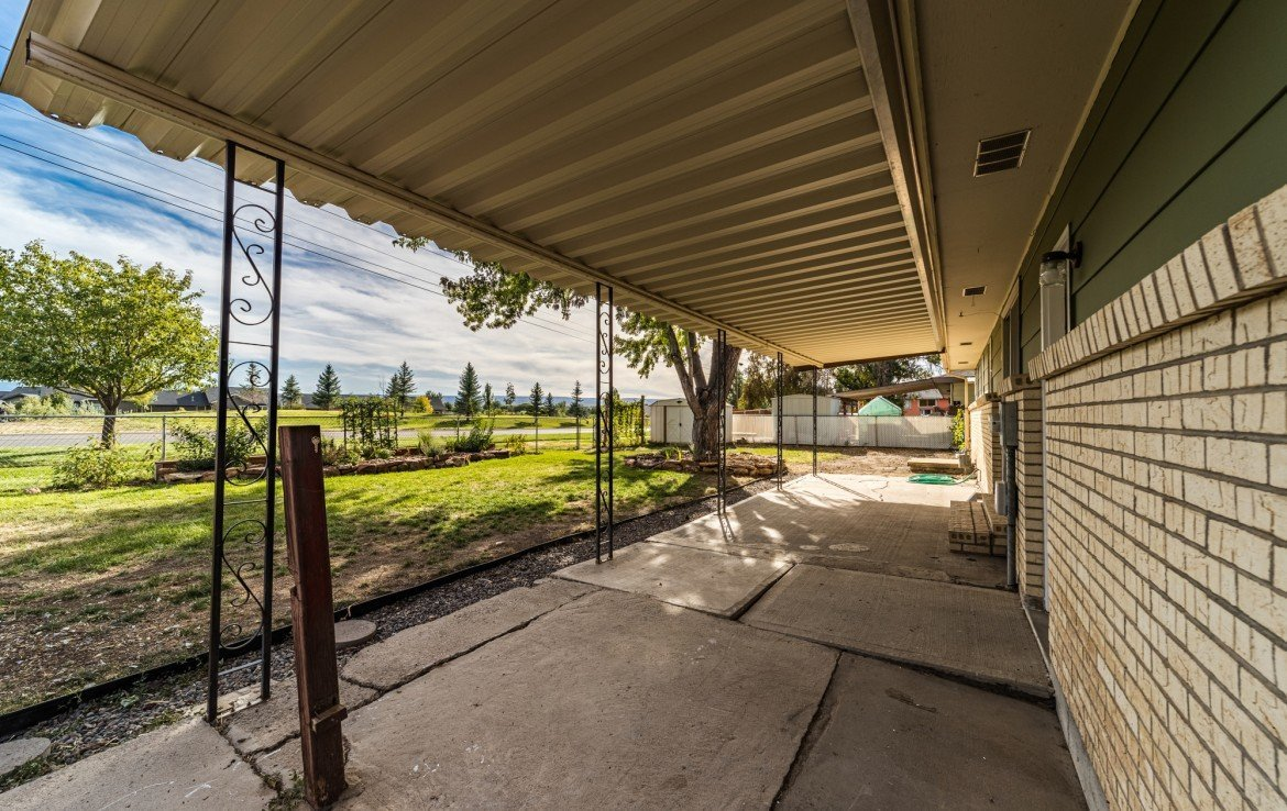 Covered Back Patio and Back Landscaping - 1717 Dover Rd Montrose, CO 81401 - Atha Team Real Estate for Sale