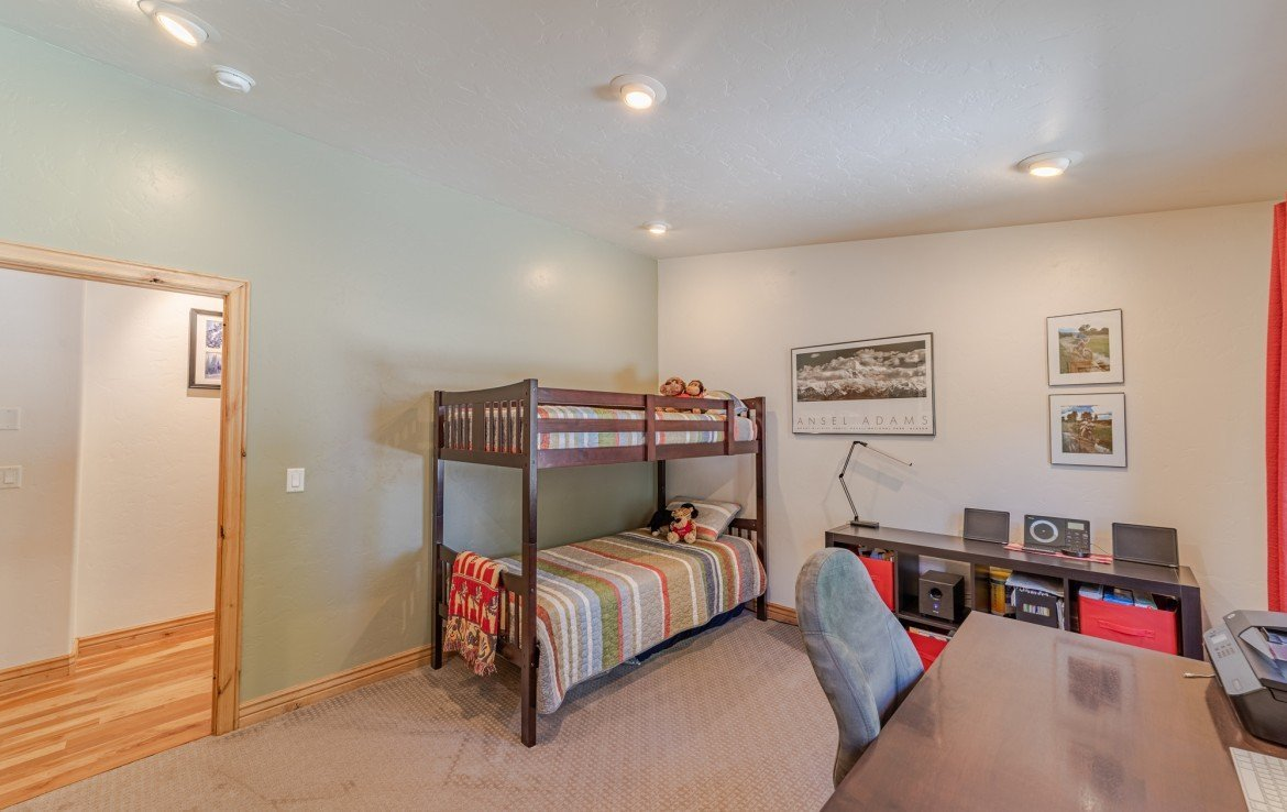 Bedroom with Canned Lighting - 181 S. Lena St #D Ridgway, CO 81432 - Atha Team Colorado Real Estate