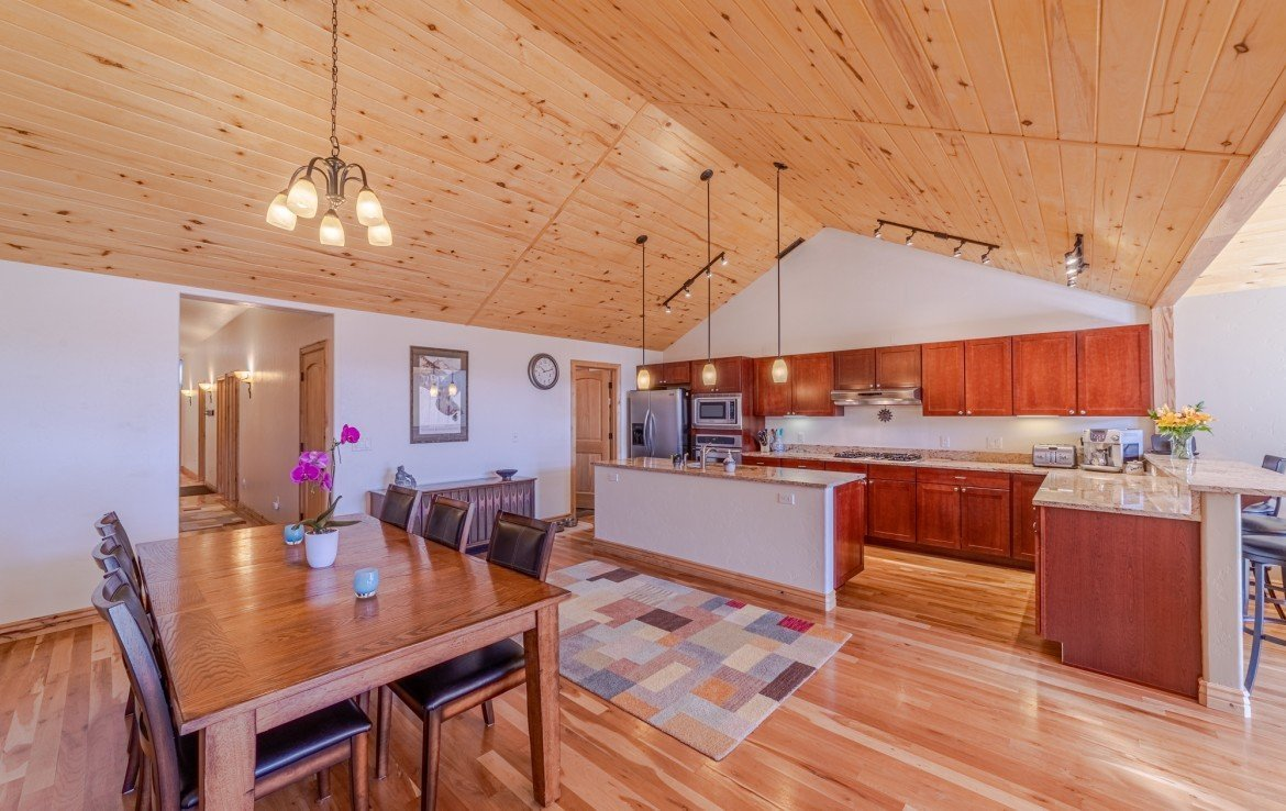 Kitchen Dining with Vaulted Ceiling - 181 S. Lena St #D Ridgway, CO 81432 - Atha Team Colorado Real Estate