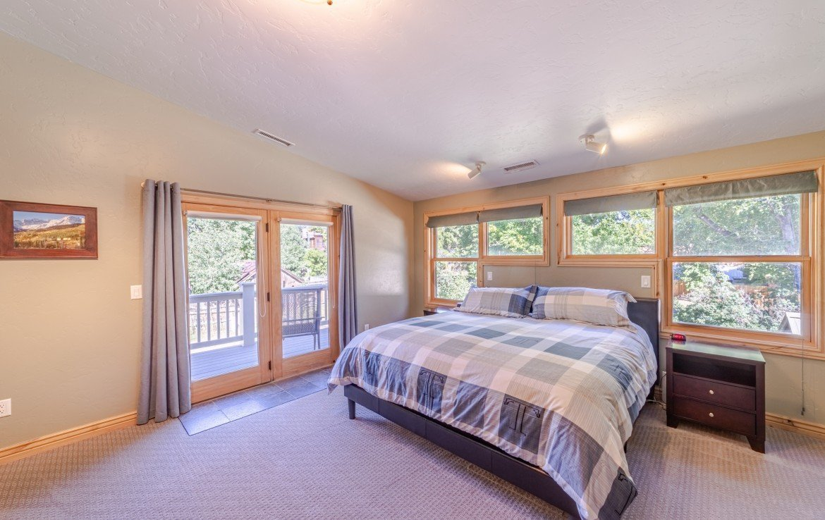 Master Bedroom with Walk-Out Balcony - 181 S. Lena St #D Ridgway, CO 81432 - Atha Team Colorado Real Estate
