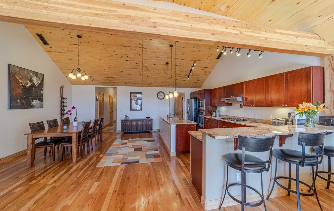 Kitchen with Bar Seating - 181 S. Lena St #D Ridgway, CO 81432 - Atha Team Colorado Real Estate