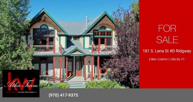 Ridgway Lock and Leave Condo for Sale - 181 S. Lena St #D Ridgway, CO 81432 - Atha Team Colorado Real Estate