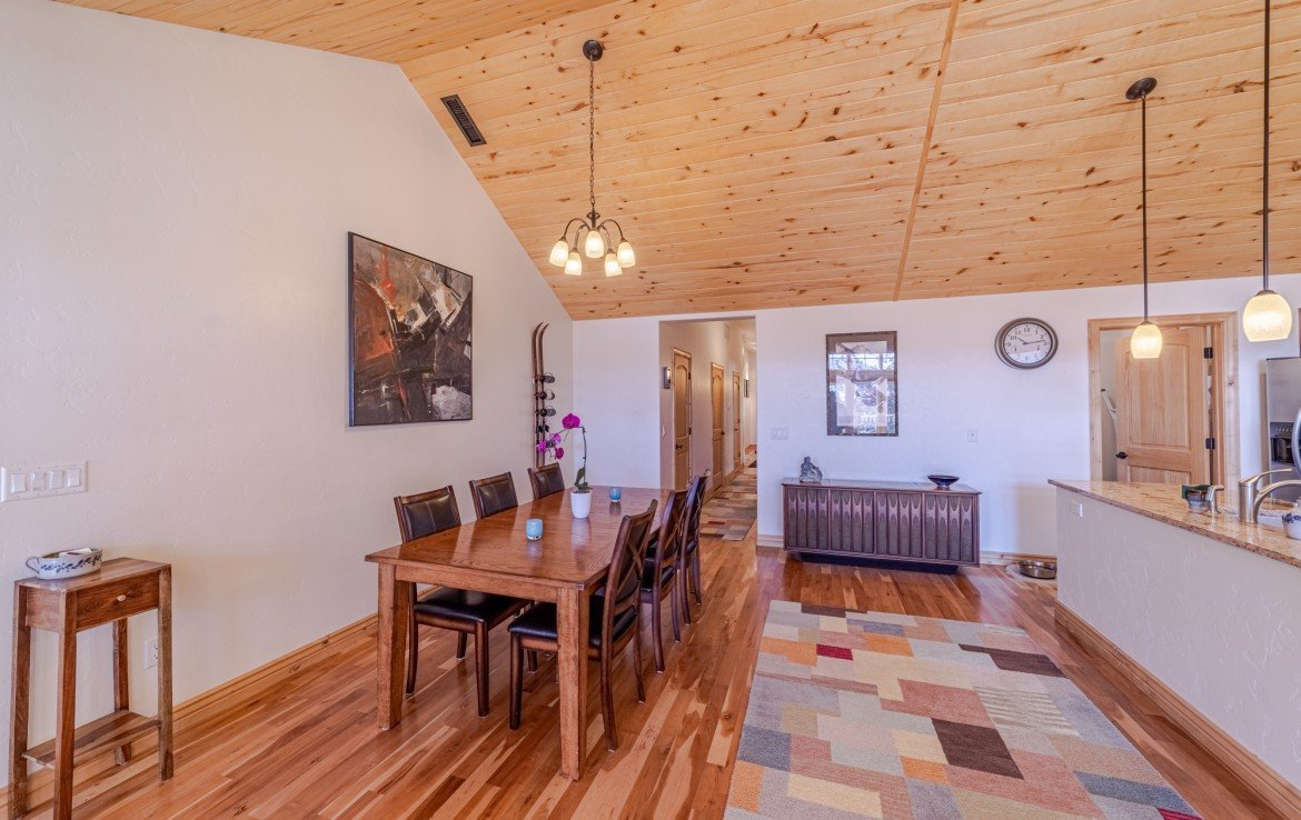Dining Room with Cherry Hardwood Floors - 181 S. Lena St #D Ridgway, CO 81432 - Atha Team Colorado Real Estate