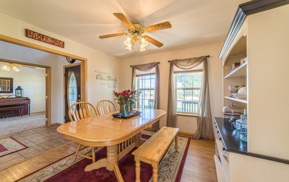 Formal Dining Room - 21835 Government Springs Rd - Atha Team Realty Montrose Colorado