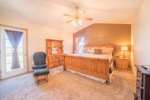 Upstairs Master Bedroom - 21835 Government Springs Rd - Atha Team Realty Montrose Colorado