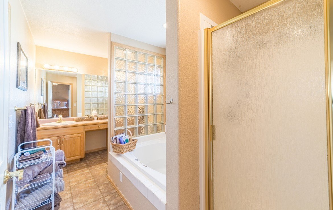Upstairs Master Bathroom - 21835 Government Springs Rd - Atha Team Realty Montrose Colorado