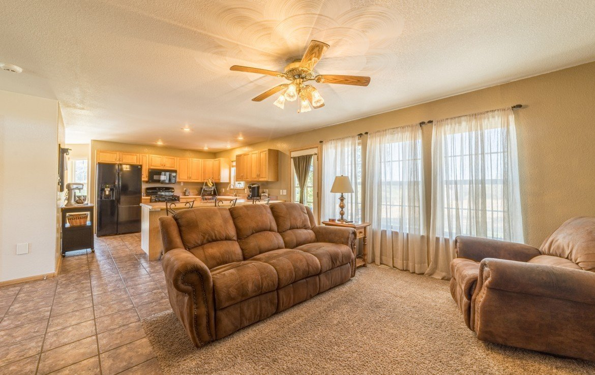 Living with Patio Doors - 21835 Government Springs Rd - Atha Team Realty Montrose Colorado