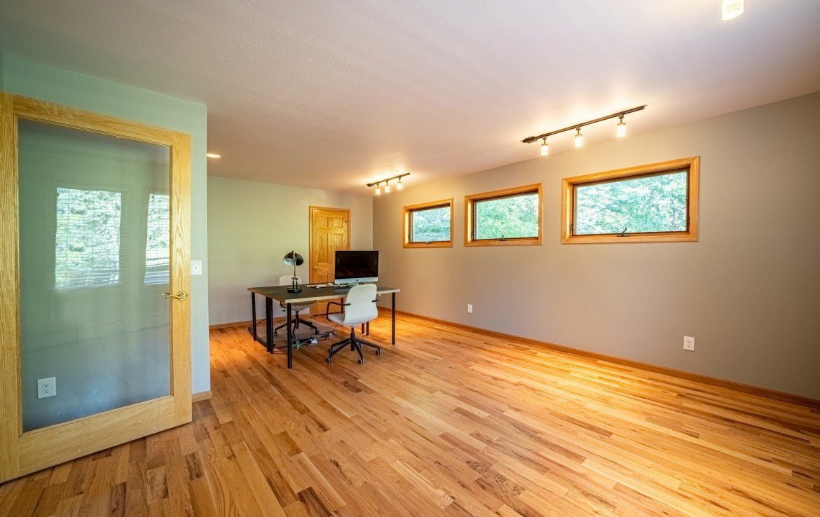 Bedroom/Office Space with Wood Flooring - 430 Pinecrest Dr Ouray, CO 81427 - Atha Team Realty