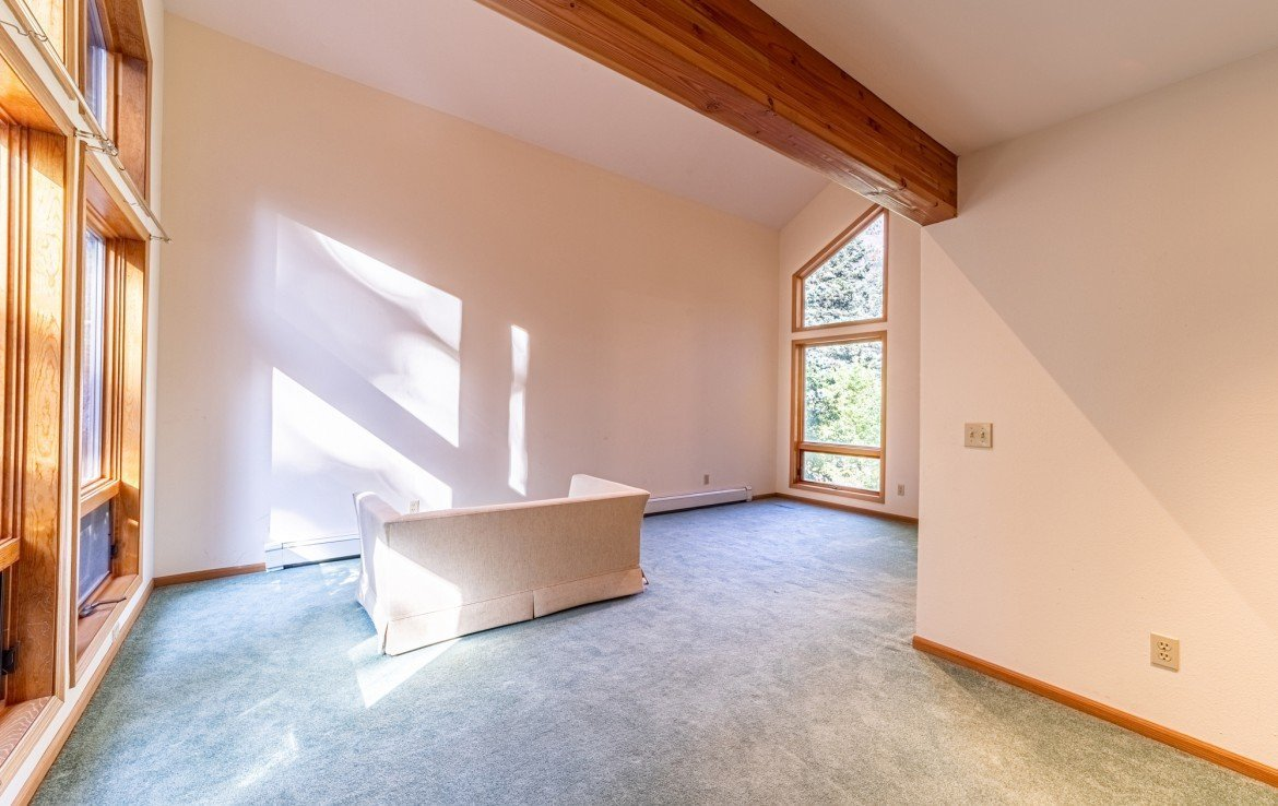 Bedroom with Open Beam - 430 Pinecrest Dr Ouray, CO 81427 - Atha Team Realty