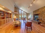 Living Room with Large Windows and Gas Fireplace - 430 Pinecrest Dr Ouray, CO 81427 - Atha Team Realty