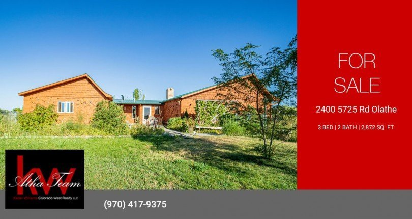 Country Home with Irrigated Acreage for Sale - 2400 5725 Rd Olathe, CO 81425 - Atha Team Real Estate, Keller Williams Montrose