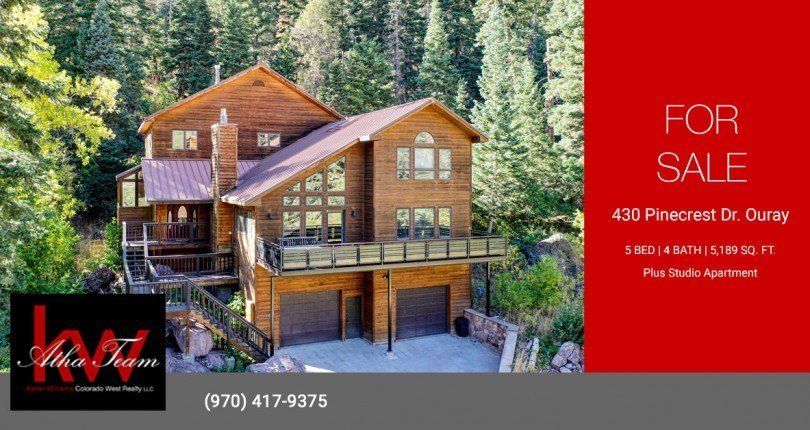 Ouray Mountain Property for Sale with Studio Apartment - 430 Pinecrest Dr Ouray Colorado - Atha Team Real Estate
