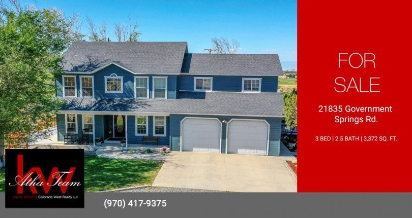 Farmhome on 3.4 Acres with Guest Home - 21835 Government Springs Rd - Atha Team Realty Montrose Colorado