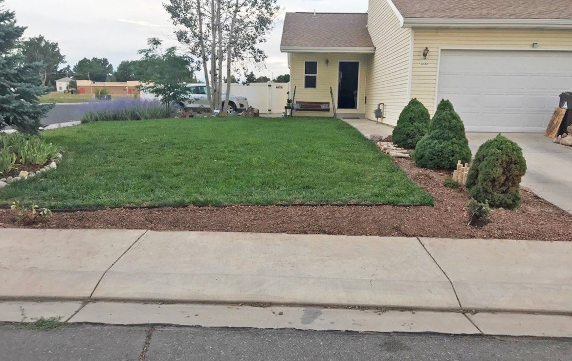 Front yard and Home with landscaping - 1100 Hemlock Way -Atha Team Real Estate for Sale