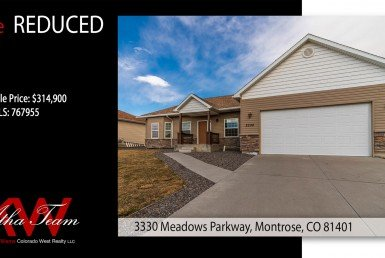 Price Reduced - 3330 Meadows Parkway Montrose CO Home for Sale - Atha Team Real Estate