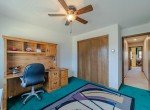 Carpeted Bedroom with Ceiling Fan - 1649 Hermosa St Montrose, CO 81401 - Atha Team Real Estate