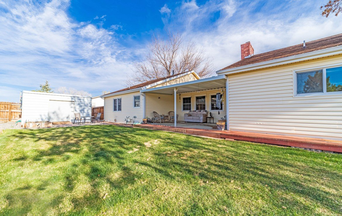 Back Patio View - 1649 Hermosa St Montrose, CO 81401 - Atha Team Real Estate