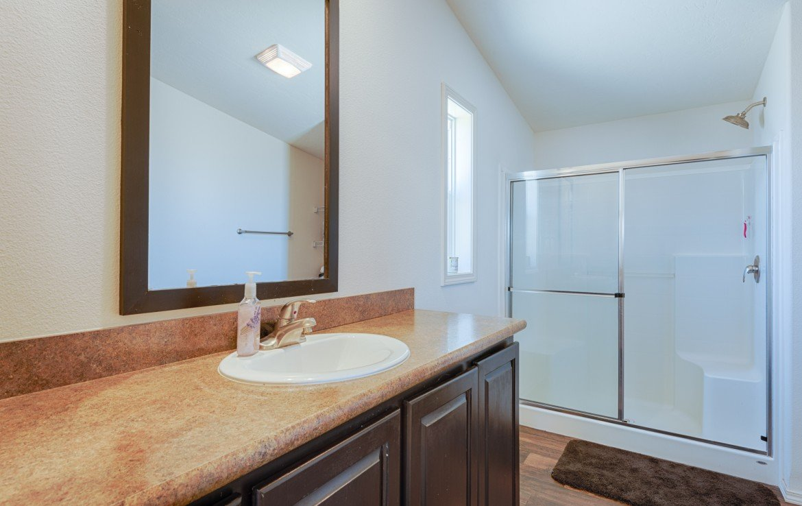 Master Bathroom with Shower - 121 Castle Ave Montrose CO - Atha Team Property