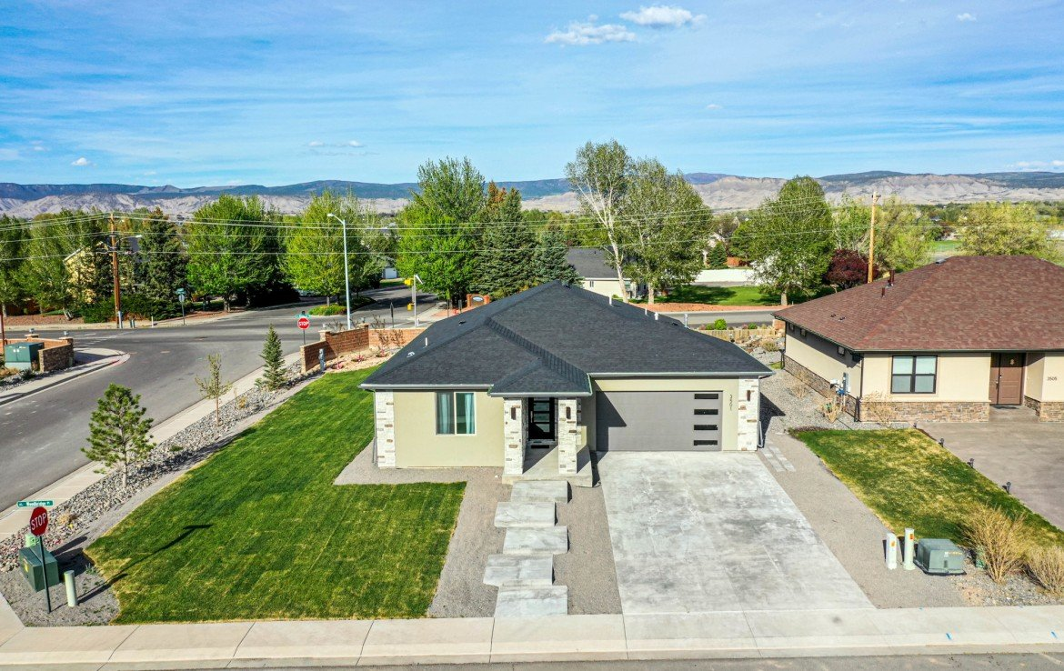 Aerial View of Home for Sale - 3501 Woodbridge Pl Montrose CO 81401 - Atha Team Real Estate