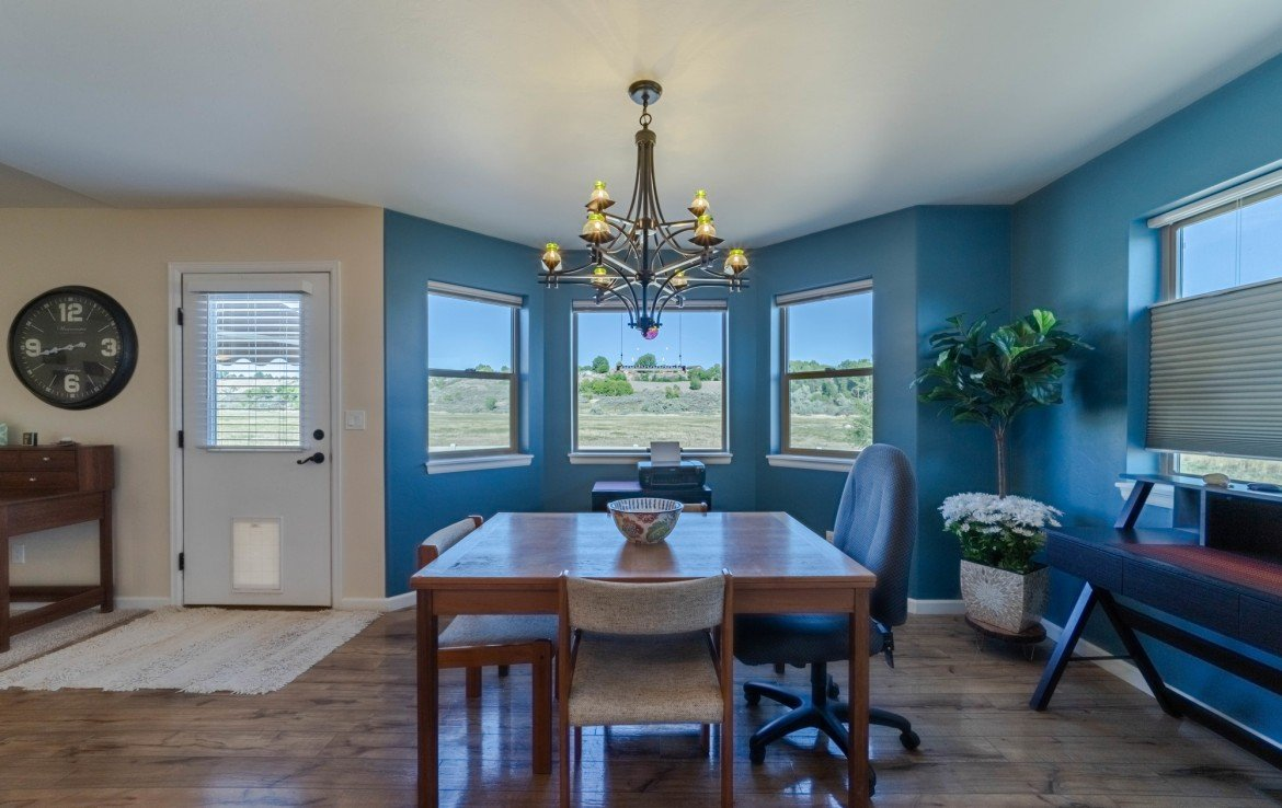 Dining with Bay Windows - 413 Alta Lakes Ave Montrose, CO - Atha Team Realty