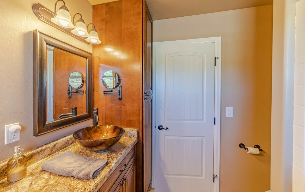 Master Bathroom with Cabinets - 413 Alta Lakes Ave Montrose, CO - Atha Team Realty