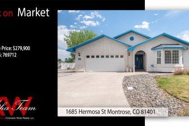 Back on Market Home for Sale - 1685 Hermosa St Montrose CO - Atha Team Real Estate