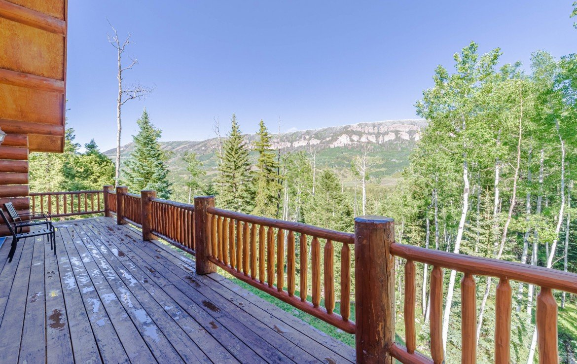 Porch Views of Cimarron Mountains - 84 Columbine Trail Cimarron Colorado 81220 - Atha Team Realty