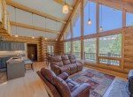 Living Room with Beams - 84 Columbine Trail Cimarron Colorado 81220 - Atha Team Realty