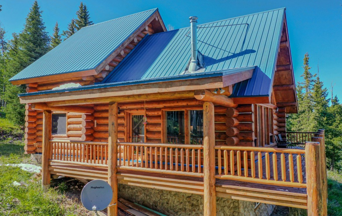Cabin with Covered Deck - 84 Columbine Trail Cimarron Colorado 81220 - Atha Team Realty