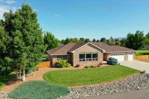 Aerial View of Home and Landscaped Yard - 2703 Clover Ct Montrose, CO 81401 - Atha Team Home Agents