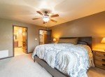 Master Bedroom with Ceiling Fan - 1300 Gold Creek Montrose, CO 81403 - Atha Team Property for Sale